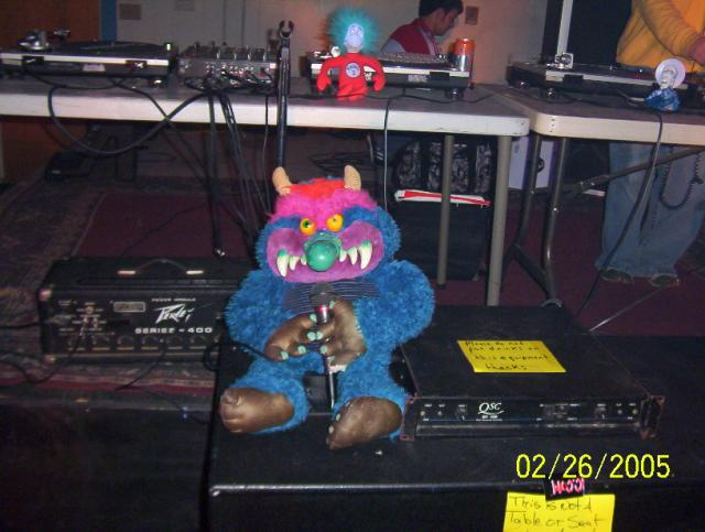 MC My Pet Monster on the mic