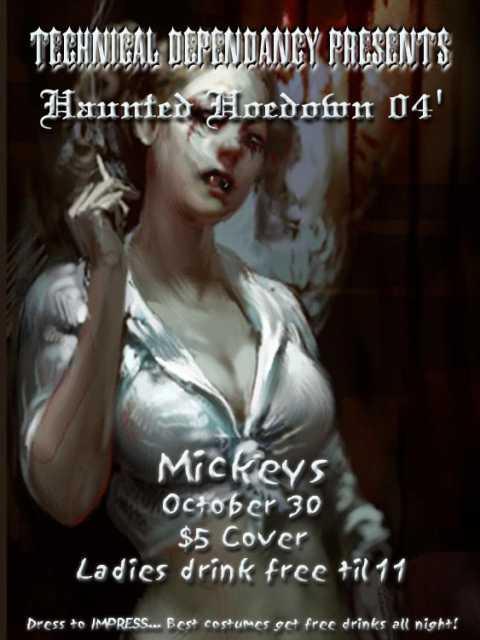 Haunted Hoedown flyer